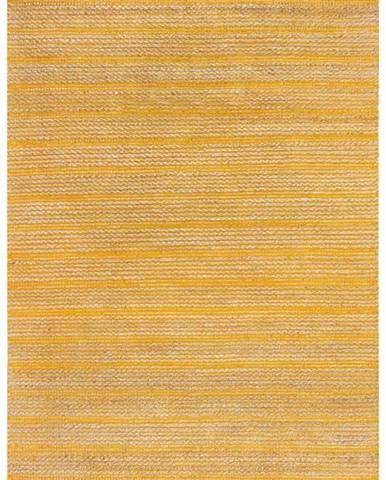 Žlutý jutový koberec Flair Rugs Equinox, 120 x 170 cm