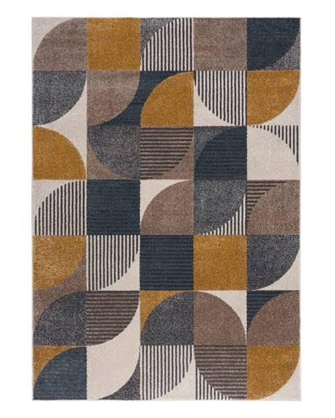 Flair Rugs Žluto-modrý koberec Flair Rugs Retro, 120 x 170 cm
