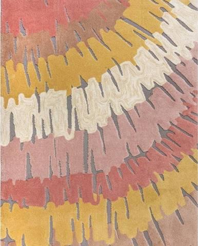 Růžovo-žlutý koberec Flair Rugs Woodgrain, 160 x 230 cm