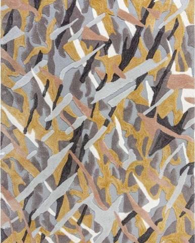Šedo-žlutý koberec Flair Rugs Bark, 120 x 170 cm