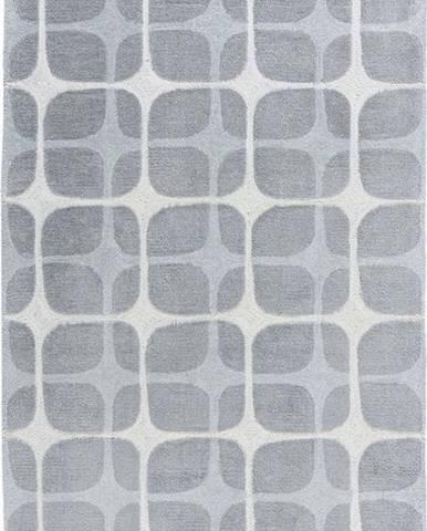 Šedý koberec Flair Rugs Mesh, 160 x 230 cm