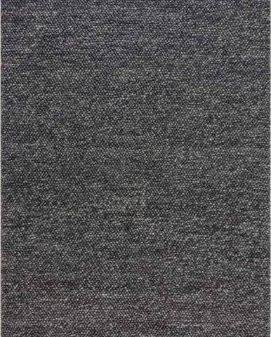 Tmavě šedý vlněný koberec Flair Rugs Minerals, 160 x 230 cm