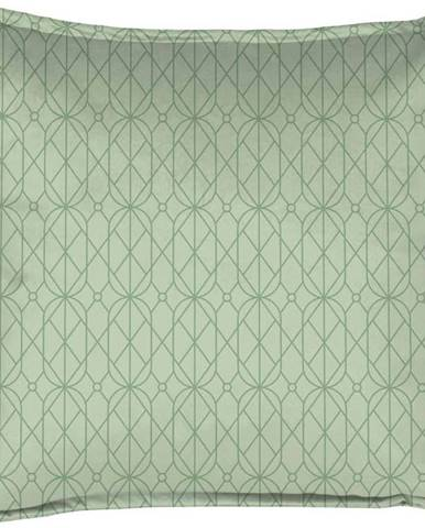 Zelený dekorativní polštář Velvet Atelier Art Deco, 45 x 45 cm