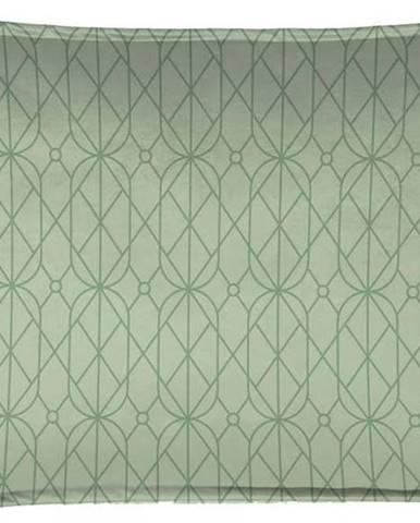 Zelený dekorativní polštář Velvet Atelier Art Deco, 50 x 35 cm