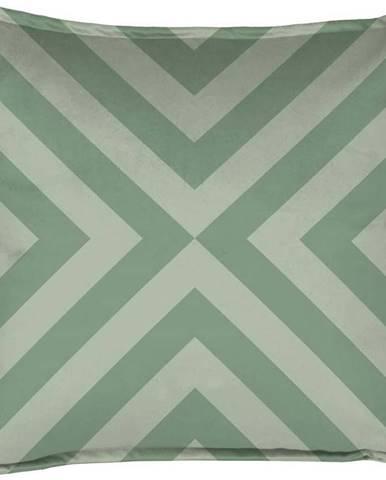 Zelený dekorativní polštář Velvet Atelier Geometric Arrow, 45 x 45 cm