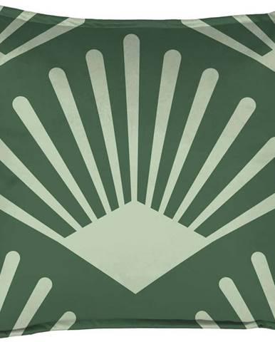 Zelený dekorativní polštář Velvet Atelier Leaf, 45 x 45 cm