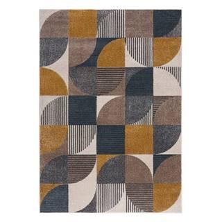 Žluto-modrý koberec Flair Rugs Retro, 120 x 170 cm