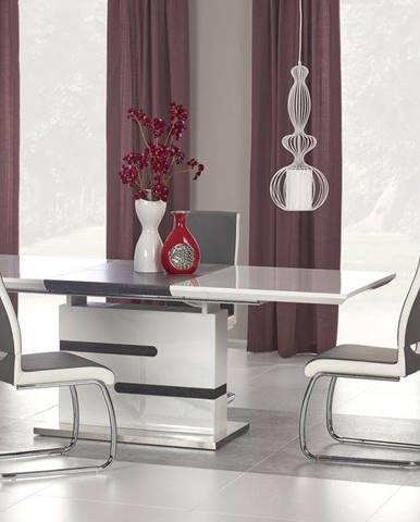 Halmar Jídelní stůl Monaco, bílý/šedý