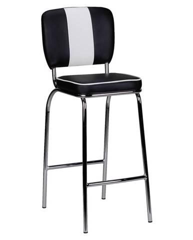 Barová Židle American Diner Černobílá