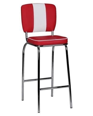 Barová Židle American Diner Červenobílá
