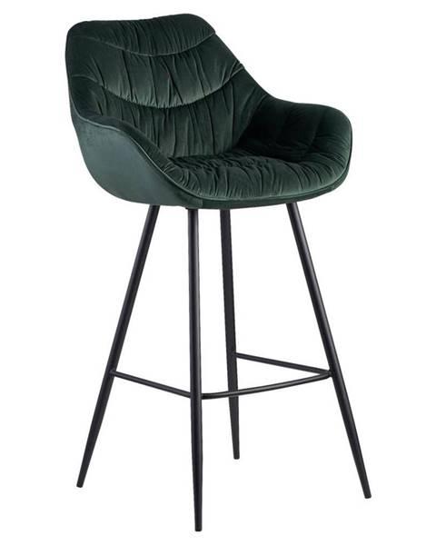 Möbelix Barová Židle Wohnling Zelená