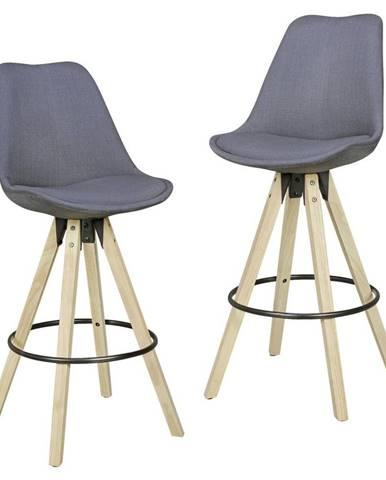 Barová Židle Lima 2ks Šedá
