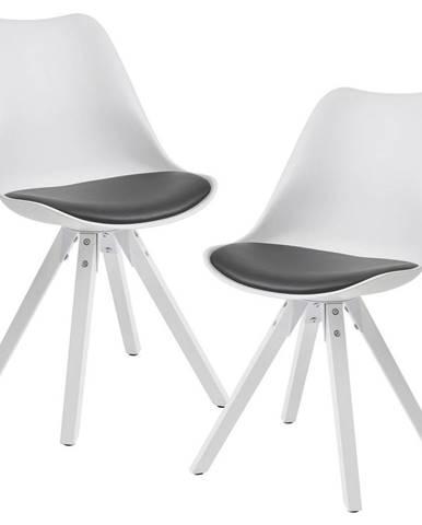 Sada Židlí Wohnling Bílá/šedá