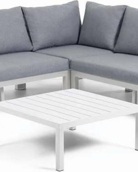 La Forma Set šedého zahradního nábytku s hliníkovou konstrukcí La Forma Duka