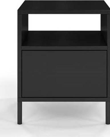 Černý noční stolek Skandica Mirka