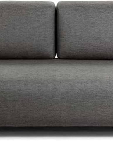 Tmavě šedá pohovka s malým odkládacím prostorem La Forma Compo