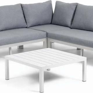 Set šedého zahradního nábytku s hliníkovou konstrukcí La Forma Duka
