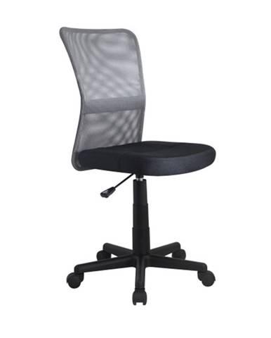 Dětská židle DINGO, šedá/černá