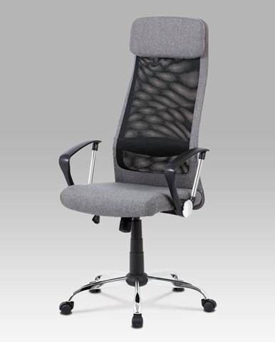 Kancelářská židle KA-V206 GREY, šedá/černá