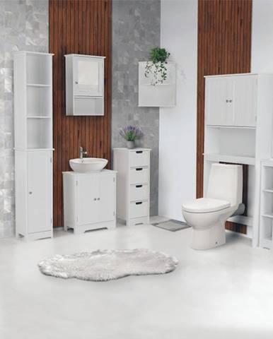 Sektorová koupelnová sestava ATENE, bílá