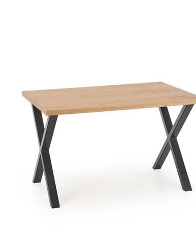 Jídelní stůl APEX 140/85 MDF, dub přírodní/černá