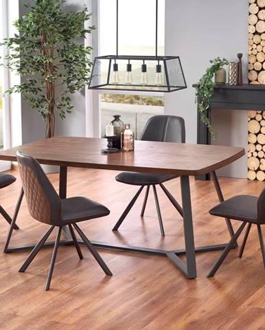 Jídelní stůl CARUZZO, dub ořechový/grafit