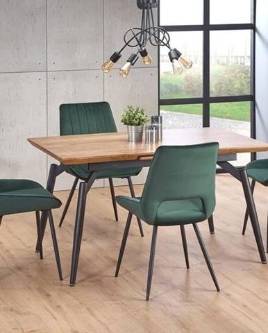 Rozkládací jídelní stůl CAMBELL, přírodní/černá
