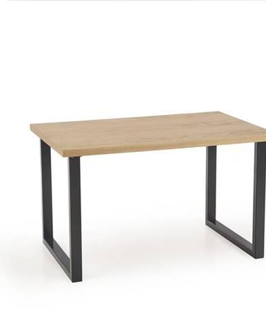 Jídelní stůl RADUS 120/78 MDF, dub přírodní/černá