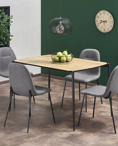 Jídelní stůl TORISTO, dub zlatý/černá