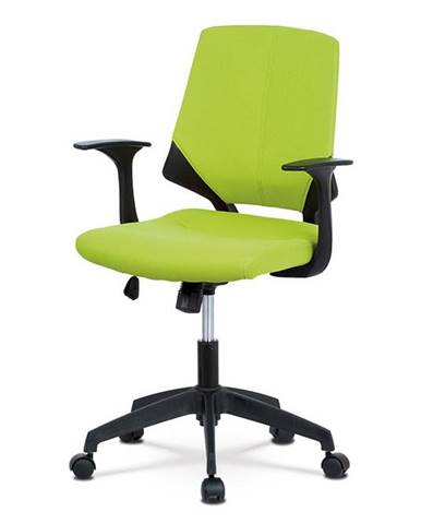 Kancelářská židle, zelená látka, černé PP područky KA-R204 GRN