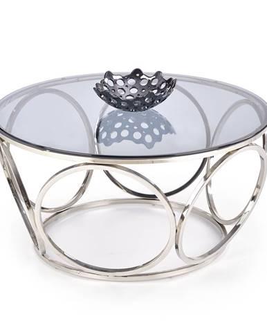 Konferenční stolek VENUS, kouřové sklo/stříbrná