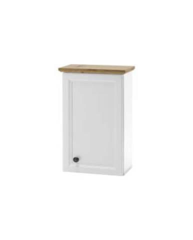 Závěsná skříňka, bílá/dub artisan, TOSKANA