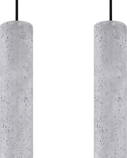 Nice Lamps Betonové závěsné svítidlo Nice Lamps Fadre,délka34cm