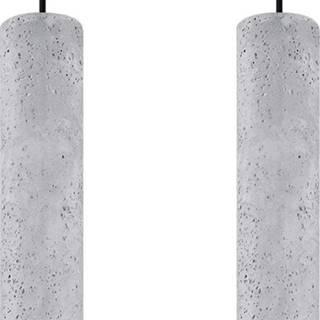 Betonové závěsné svítidlo Nice Lamps Fadre,délka34cm
