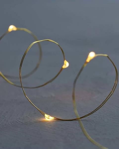 Sirius Světelný LED řetěz Sirius Knirke Gold, délka 3,9 m