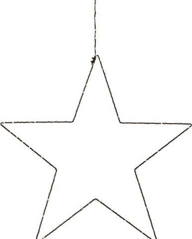Černá vánoční závěsná světelná dekorace Markslöjd Alpha Star,výška30cm