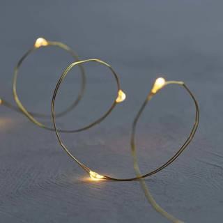 Světelný LED řetěz Sirius Knirke Gold, délka 3,9 m