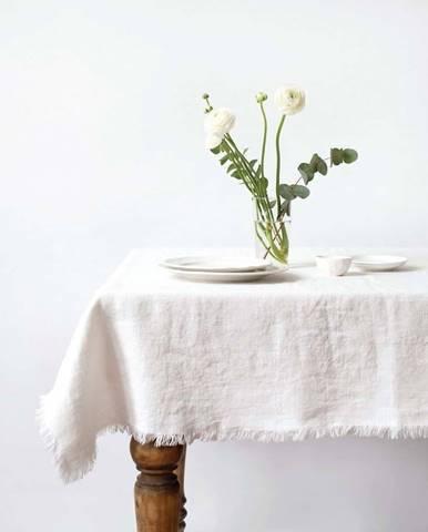 Bílý lněný ubrus Linen Tales Classic,140x200cm