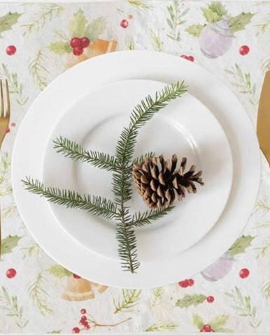 Vánoční lněné prostírání Linen Tales Merry,40x35cm