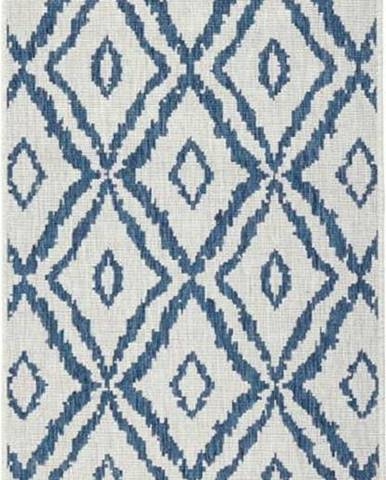 Modro-bílý venkovní koberec Bougari Rio, 80x250 cm