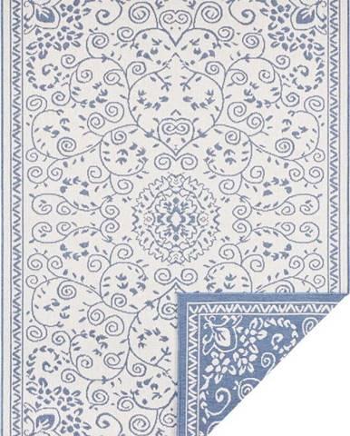 Modro-krémový venkovní koberec Bougari Leyte, 200 x 290 cm