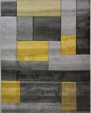 Šedo-žlutý koberec Flair Rugs Cosmos, 160x230cm