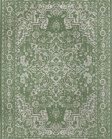 Zeleno-béžový venkovní koberec Ragami Vienna, 80 x 150 cm