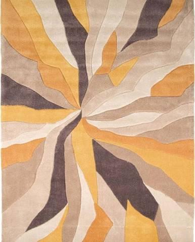Žlutý koberec Flair Rugs Splinter, 160 x 220 cm