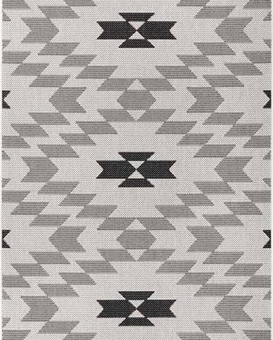 Černo-bílý venkovní koberec Ragami Geo, 200 x 290 cm