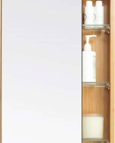 Bambusová skříňka do koupelny se zrcadlovými dvířky Wireworks Arena Bamboo