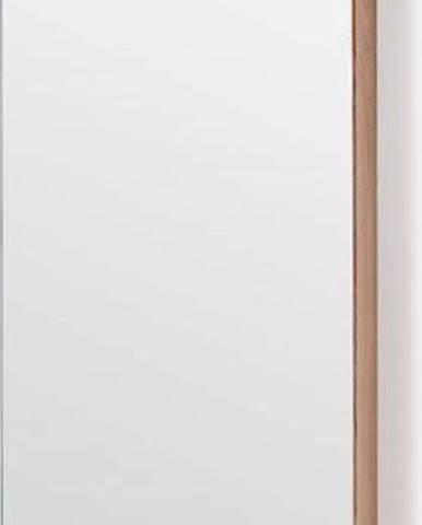 Nástěnná skříňka se zrcadlem z dubového dřeva Wireworks Zone