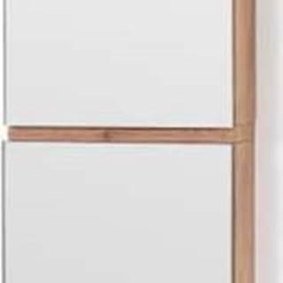 Nástěnná vysoká skříňka se zrcadlem z dubového dřeva Wireworks Zone