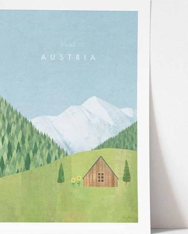 Plakát Travelposter Austria, A3